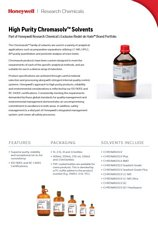 Honeywell - High Purity Chromasol Solvents