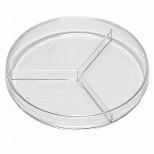 3 Compartment Petri Dish 94mm Triple Vent