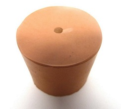 RUBBER STOPPER/BUNG ONE HOLE PACK OF ONE - Medium Sizes