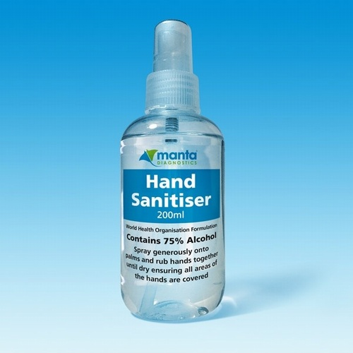 Hand Sanitiser 200ml Hand Spray